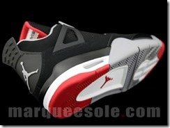 AIR JORDAN IV RETRO – BLACK CEMENT GREY AKA FIRE RED 4