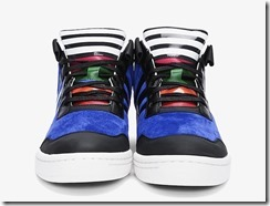 Y-3 Blue Striped Courtside Sneakers 2