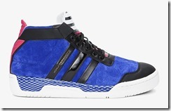 Y-3 Blue Striped Courtside Sneakers 3