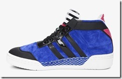 Y-3 Blue Striped Courtside Sneakers 4
