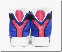 Y-3 Blue Striped Courtside Sneakers 5