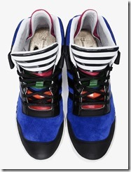 Y-3 Blue Striped Courtside Sneakers