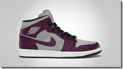 Air Jordan 1 Phat Bordeaux Stealth-Black-White