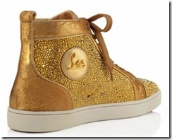 Christian Louboutin Gold Louis Strass Sneakers 3