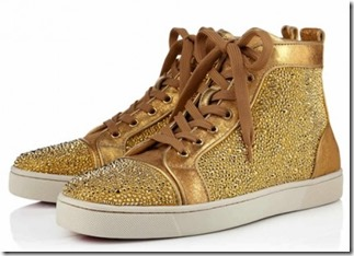 Christian Louboutin Gold Louis Strass Sneakers 4