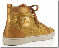 Christian Louboutin Gold Louis Strass Sneakers