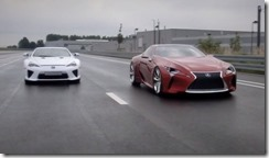 Lexus LFA & LF-LC a supercar meeting an avant-garde beauty