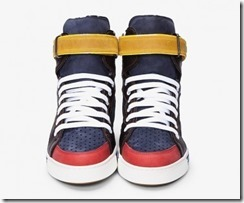 Dsquared2 Navy Combo Alta Sneakers 2