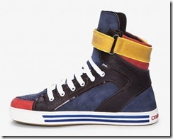 Dsquared2 Navy Combo Alta Sneakers 3