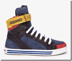 Dsquared2 Navy Combo Alta Sneakers