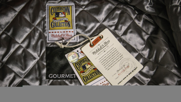 Gourmet Footwear x Mitchell & Ness Debut Vintage Satin Baseball Jackets 4