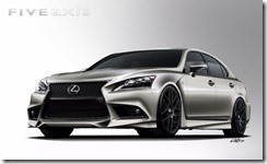 Project Lexus LS F SPORT by Five Axis for SEMA 2012