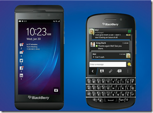 Blackberry 10 Device - About to be launched by the Blackberry company who is now having a bad time with their shares.