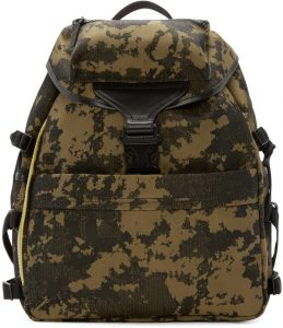 Alexander McQueen Ochre & Black Camo Backpack
